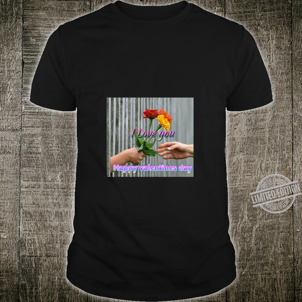 Happy valentines day wishes, just for you, i love you Racerback Shirt
