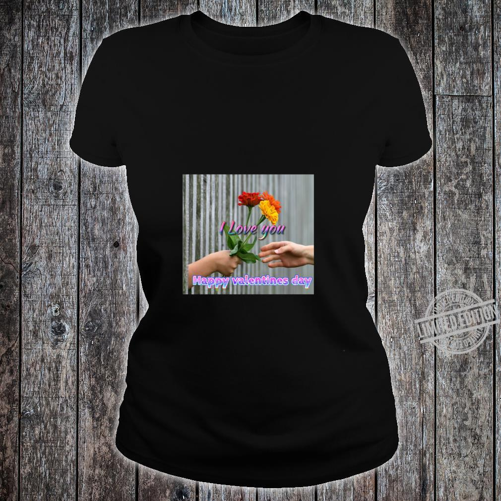 Happy valentines day wishes, just for you, i love you Racerback Shirt ladies tee