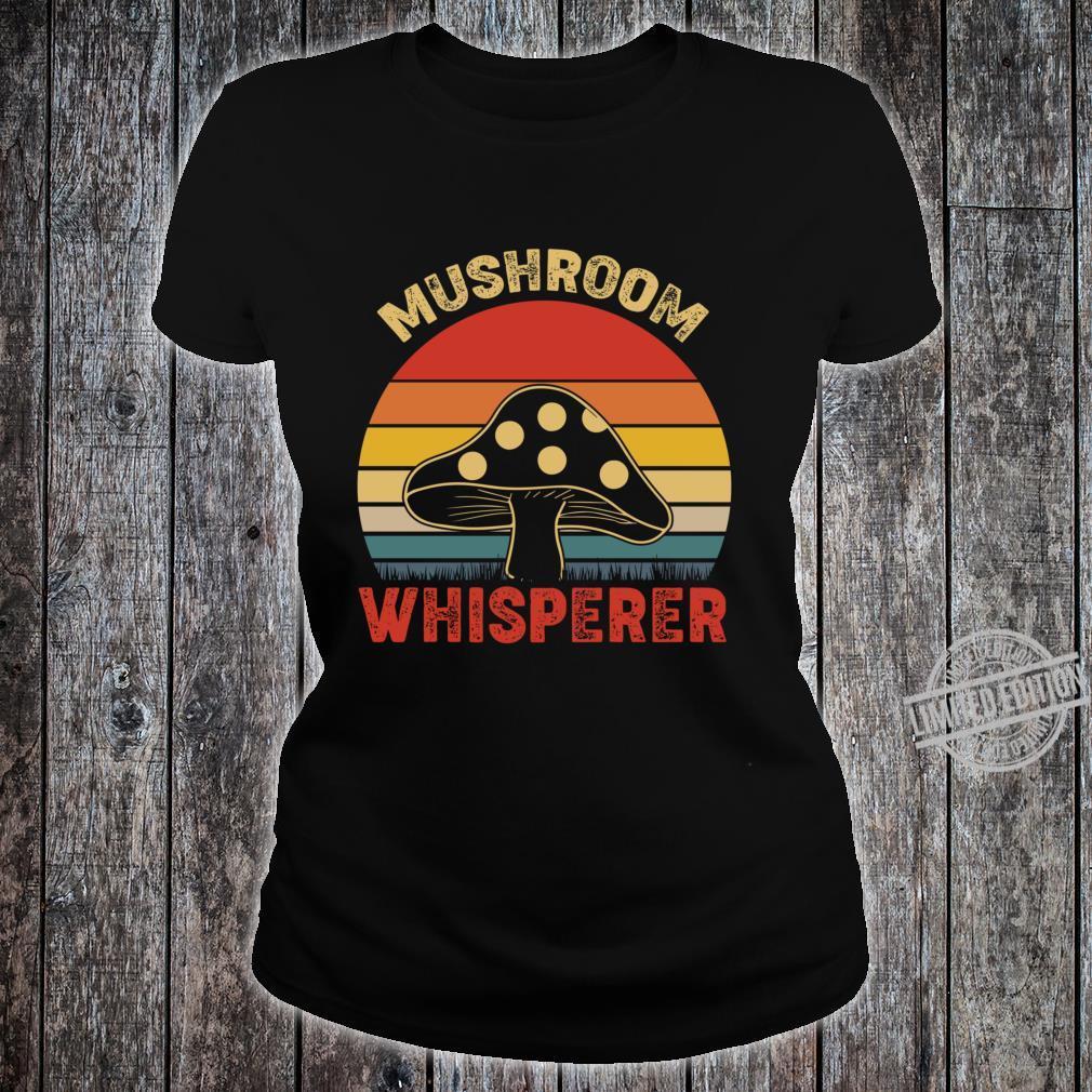Mushroom Whisperer Vintage Lightweight Shirt ladies tee
