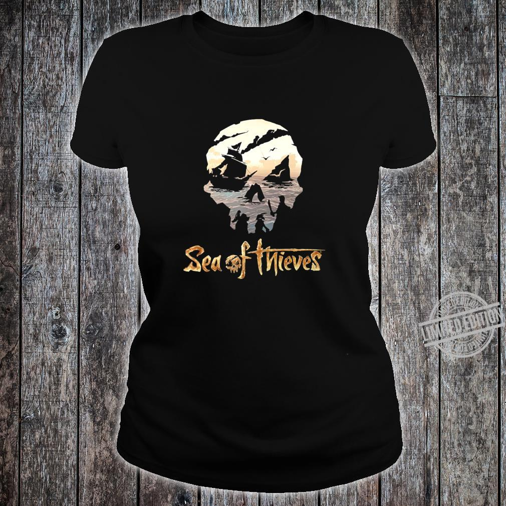 Sea of thieves skull design Racerback Shirt ladies tee