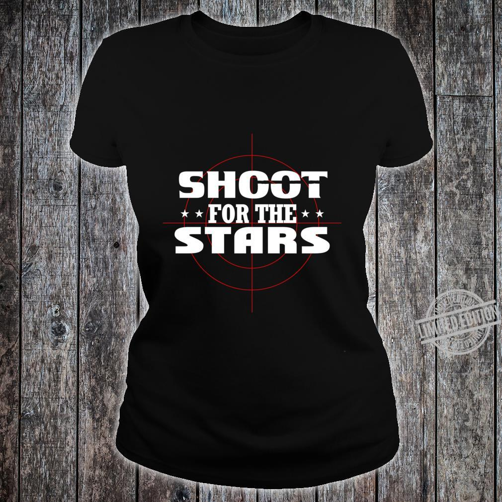 Shoot for the stars Lightweight Shirt ladies tee